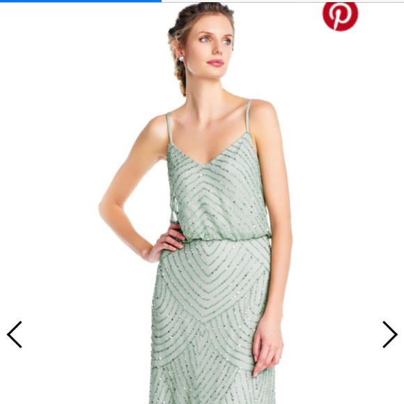 Adrianna Papell Dresses | Sleeveless Beaded Blouson Gown | Poshmark